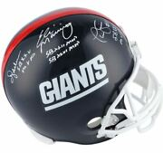 Eli Manning Ottis Anderson And Phil Simms New York Giants Signed Throwback Helmet