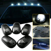 5x Smoked Rooftop Cab White Led Running Light Drl For Dodge Ram 1500 2500 3500