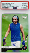 """2020 Topps Now Bo Bichette Rc """"road To Opening Day Summer Camp"""" Psa 10 💎 Lowpop"""