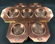 Set Of 3 Roca Patron Tequila Flight Copper Lined Display Trays