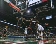 Dwyane Wade Miami Heat Signed 8 X 10 Alley-oop To Lebron James Photograph