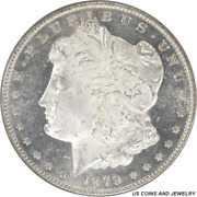 1879-s Morgan Silver Dollar Pcgs Ms65dmpl Electric Static Fields Of Black And W