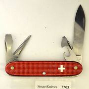 Victorinox 1998 Red Alox Soldier Swiss Army Knife- Used, Excellent 7703