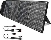 120 Watt Portable Solar Panel Charger With Kickstand, Parallel Cable, Black