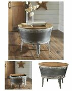 Farmhouse Accent Coffee Table With Storage Rustic Industrial Vintage Living Room