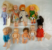 Lot Of 9 Miniature Plastic Dolls Kid Co. © 1981, J.d.c O Marchon © 1987 And More