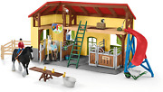 30-piece Playset Farm Toys And Farm Animals For Kids Ages 3-8 Horse Stable