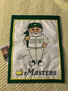Jack Nicklaus Signed Masters Gnome Garden Flag Augusta Jsa Authenticated Coa