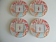 Set Of 4 Coca Cola Round Glass Coasters Evolve On The Coke Side Of Life