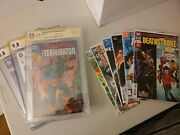 Deathstroke Lot Signed And Sketched Cgc/cbcs Slabs And Raw Comics
