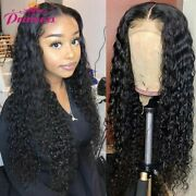 Water Wave Lace Front Human Hair Wig Lace Closure Wig Pre Plucked With Baby Hair