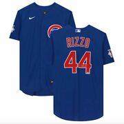 Anthony Rizzo Chicago Cubs Signed Blue Nike Authentic Jersey
