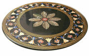 42 Marble Dining Table Top Inlay Rare Stones Round Center Coffee Table Ar1181