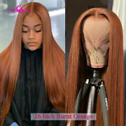 Brown Closure Wig Straight Lace Front Wig Pre Plucked Lace Front Human Hair Wigs