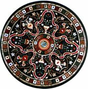 42 Marble Dining Table Top Inlay Rare Stones Round Center Coffee Table Ar1194