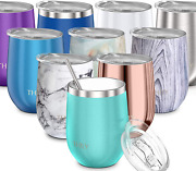 Stainless Steel Stemless Wine Glass - Thily T1 Triple Vacuum Insulated Travel Wi