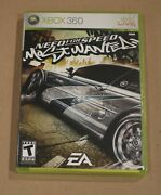 Xbox 360 Need For Speed Most Wanted 2005 Game Case Manual Video Game Disc