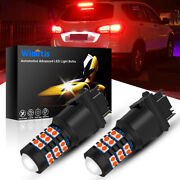For Nissan Altima Frontier 3157 Red Led 30smd-3030 Brake Tail Lights Bulb Bright