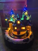 Animated Musical Lighted Train Station Christmas Tree Mountain Village Scene 8andrdquo