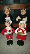 Byers Choice The Carolers Singing Family Lot Of 4 1987