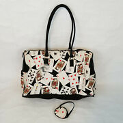 Betty Boop Playing Cards Cloth Duffle Tote Bag With Change Purse 2004