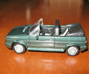 1988 Green Golf Cabriolet Toy Car Moving Wheels 1997 Vintage New Ray Car 143