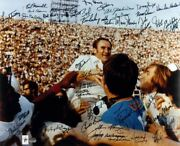 Miami Dolphins 1972 Team Signed 20and039and039 X 24and039and039 Shula On Shoulders Photograph