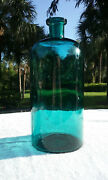 Tumbled - 1870and039s Huge Antique Apothecary Bottle Stunning Color 11 X 5