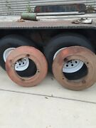 Vintage Oliver Tractor Rear Wheel Weights H1235b Set Pair Used Pick Up Only