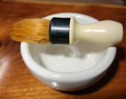 Vintage Sterized Rubberset Shaving Brush With Heavy Ceramic Bowl