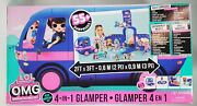 New Lol Surprise And Omg 4-in-1 Electric Blue Glamper Fashion Camper 55+ Surprises