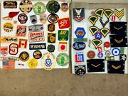 Vintage Lot Patches Military Firearm Racing High School Beer Boy Scout Sportsmen