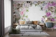 3d Floral Skull Frame Wallpaper Wall Mural Removable Self-adhesive Sticker1871
