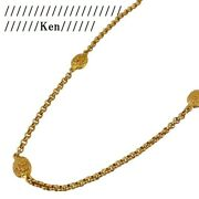 Necklace Pendant Choker Chain Auth Coco Rare Vintage Gold Long 95a F/s