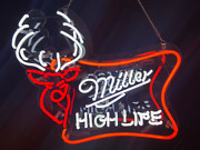 17x15miller High Life Real Glass Handmade Beer Bar Neon Signs Shipping From Us