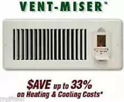 Vent-miser Programmable Energy Saving Vent - Fits Ducts 4 X 10 Inches