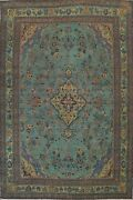 Antique Floral Overdyed Traditional Oriental Area Rug Hand-knotted Wool 8x11 Ft
