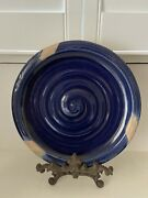 """Ethan Allen Rpw Rowe Pottery Works Large 14"""" Spiral Platter/decorative Plate"""