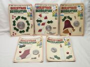 Craft House Vintage Stained Glass Christmas Decoration Kits Lot Of 5 Unused
