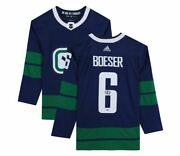 Brock Boeser Vancouver Canucks Signed Blue Alternate Adidas Authentic Jersey