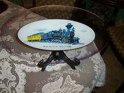 Glass Platter The First Santa Fe Train The Cyrus K .holliday