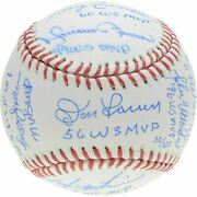New York Yankees Signed World Series Mvpand039s Baseball With Multiple Inscriptions