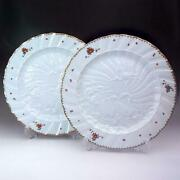 First-class Products Large Plate 32cm Diameter Swan Pair Set Of