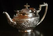 Antique 1902 Made Of Sterling Silver Design Nice Teapot With Decorations -57