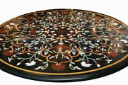 42 Marble Dining Table Top Inlay Rare Stones Round Center Coffee Table Ar1272