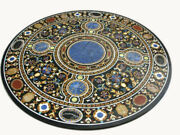 42 Marble Dining Table Top Inlay Rare Stones Round Center Coffee Table Ar1273