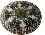 42 Marble Dining Table Top Inlay Rare Stones Round Center Coffee Table Ar1294