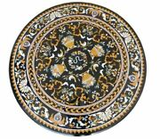 42 Marble Dining Table Top Inlay Rare Stones Round Center Coffee Table Ar1296