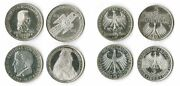 5 Mark Die First Four 195255 57 Federal Republic Germany Complete Xf - St