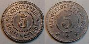 5 Pfennig Without Year Germany/hohenwestedt Iron Extremely Rare